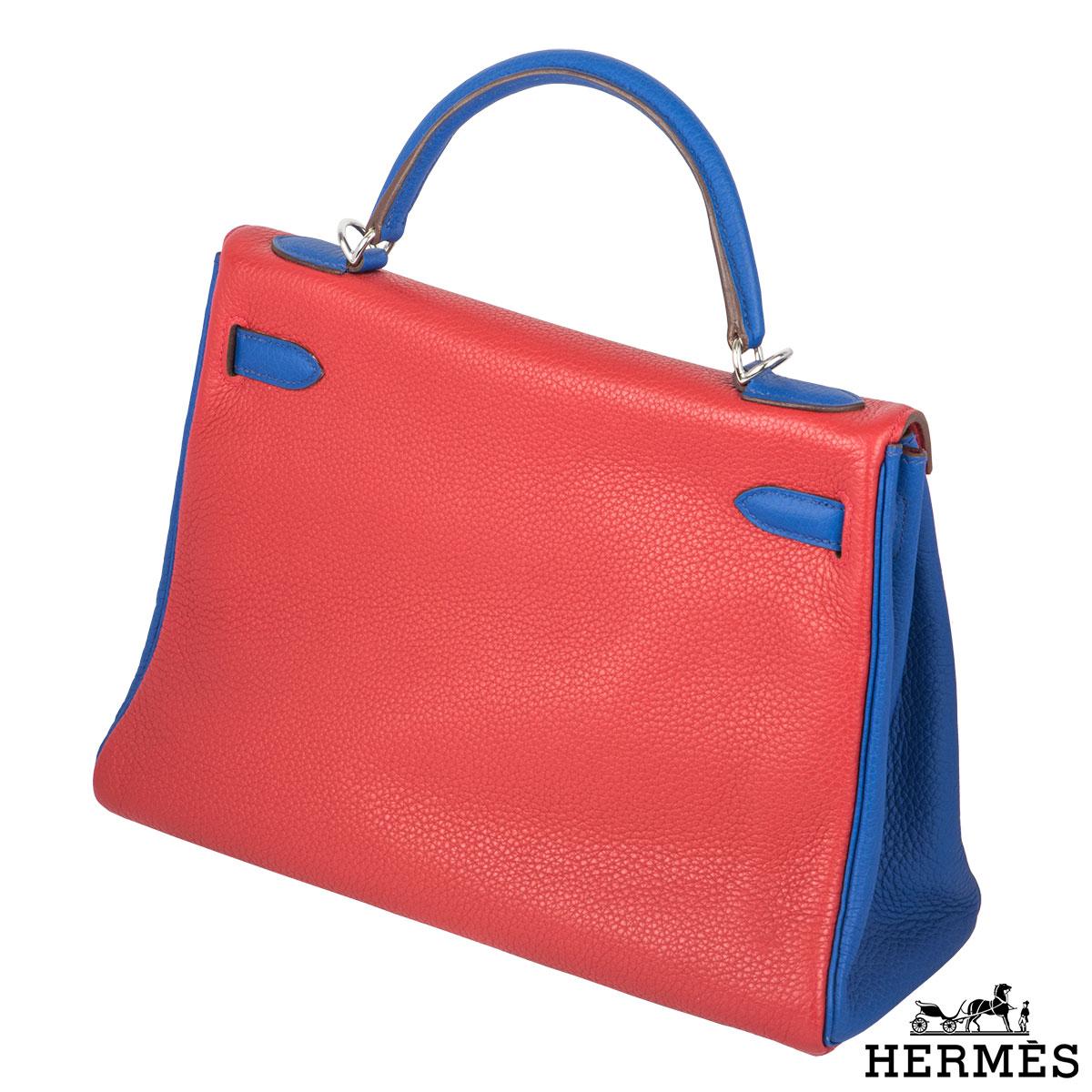 Hermès 32cm PHW Horseshoe Kelly Bag